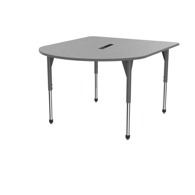 "Premier Series Multimedia Tables with Power Module, 60"" x 72""-Tables-Stool (32"" - 42"")-Gray Nebula/Gray-Grey"