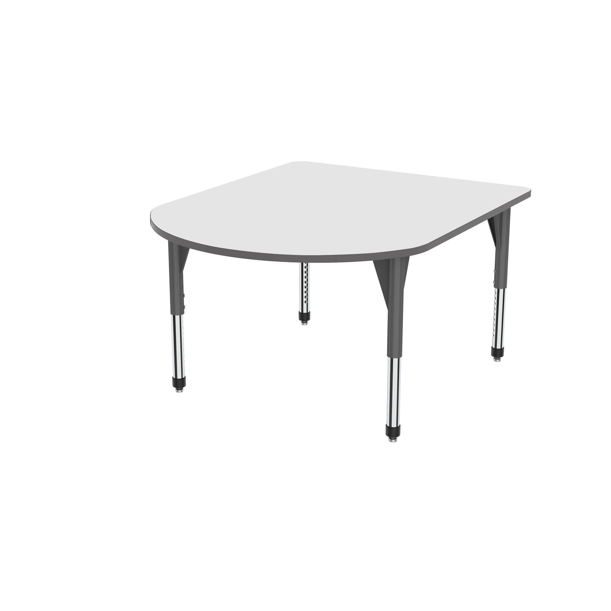 "Premier Series Multimedia Tables with White Dry-Erase Top, 48"" x 60""-Tables-Sitting (21"" - 31"")-White Dry Erase/Gray-Gray"