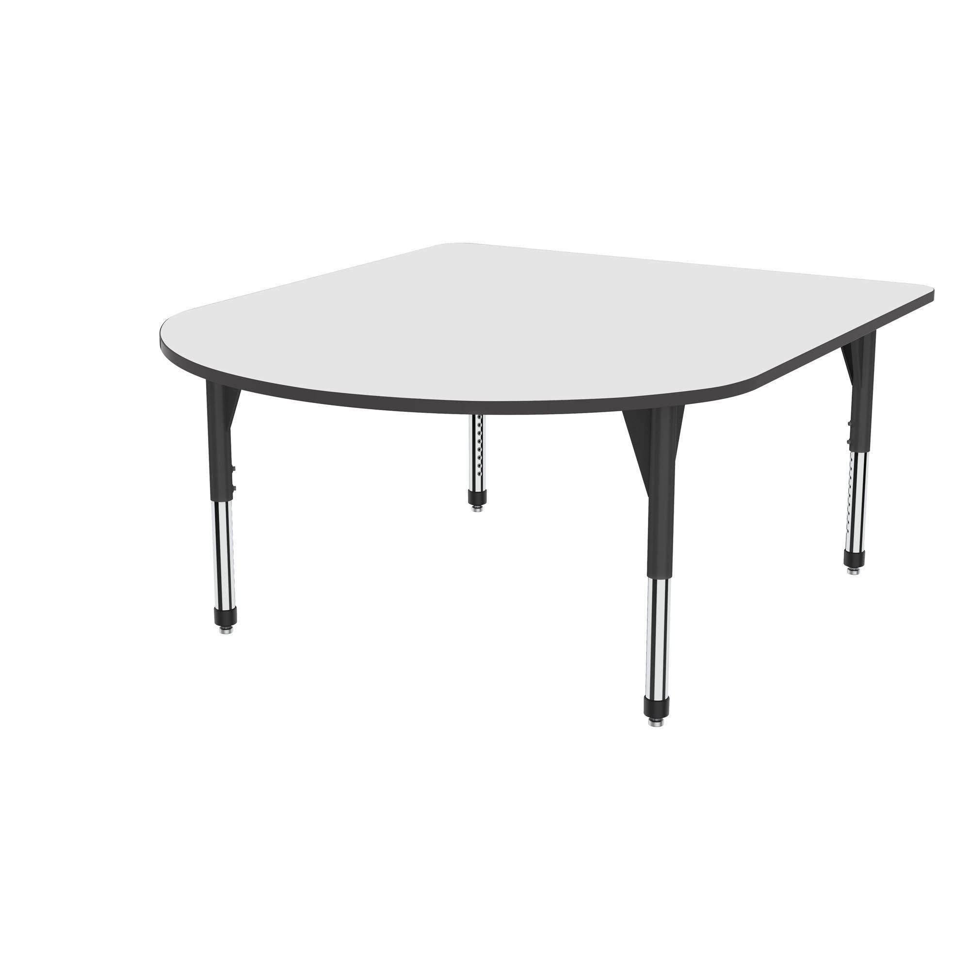 "Premier Series Multimedia Tables with White Dry-Erase Top, 60"" x 72""-Tables-Sitting (21"" - 31"")-White Dry Erase/Black-Black"