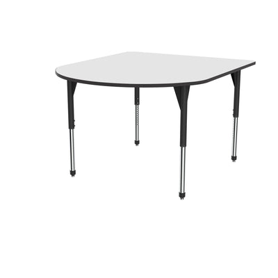 "Premier Series Multimedia Tables with White Dry-Erase Top, 60"" x 72""-Tables-Stool (32"" - 42"")-White Dry Erase/Black-Black"