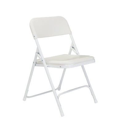 Premium Lightweight Plastic Folding Chair (Carton of 4)-Chairs-Bright White Plastic/White Frame-