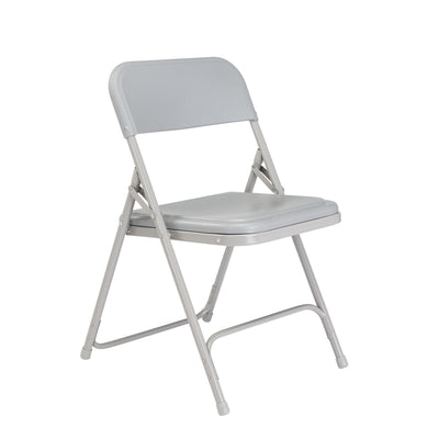 Premium Lightweight Plastic Folding Chair (Carton of 4)-Chairs-Grey Plastic/Grey Frame-
