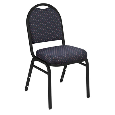 Premium Upholstered Dome-Back Stack Chair-Chairs-Diamond Navy Fabric/Black Sandtex Frame-