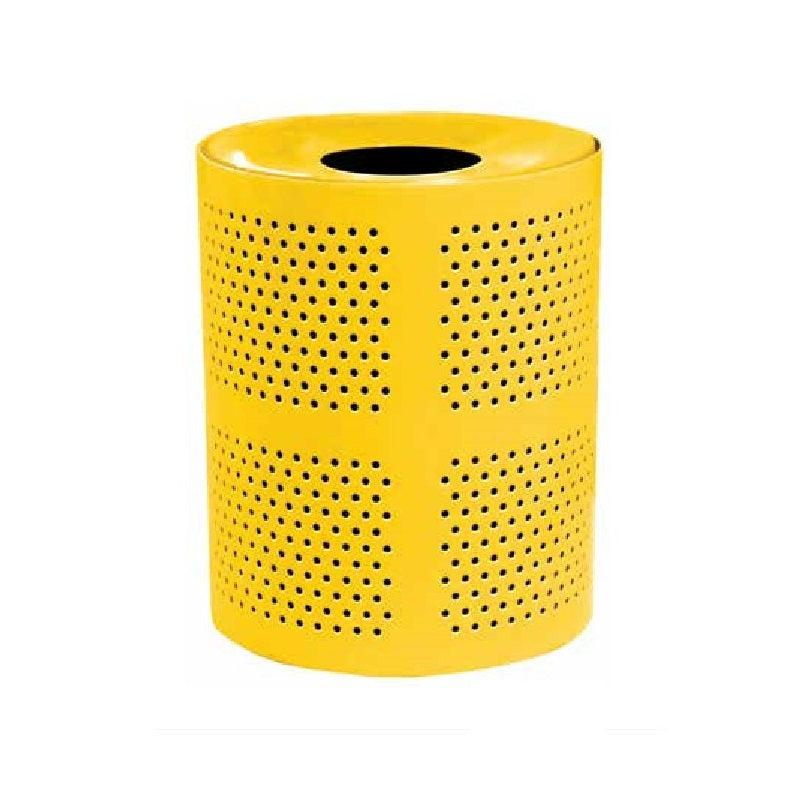 32 Gallon Perforated Waste Receptacle with Concave Metal Lid