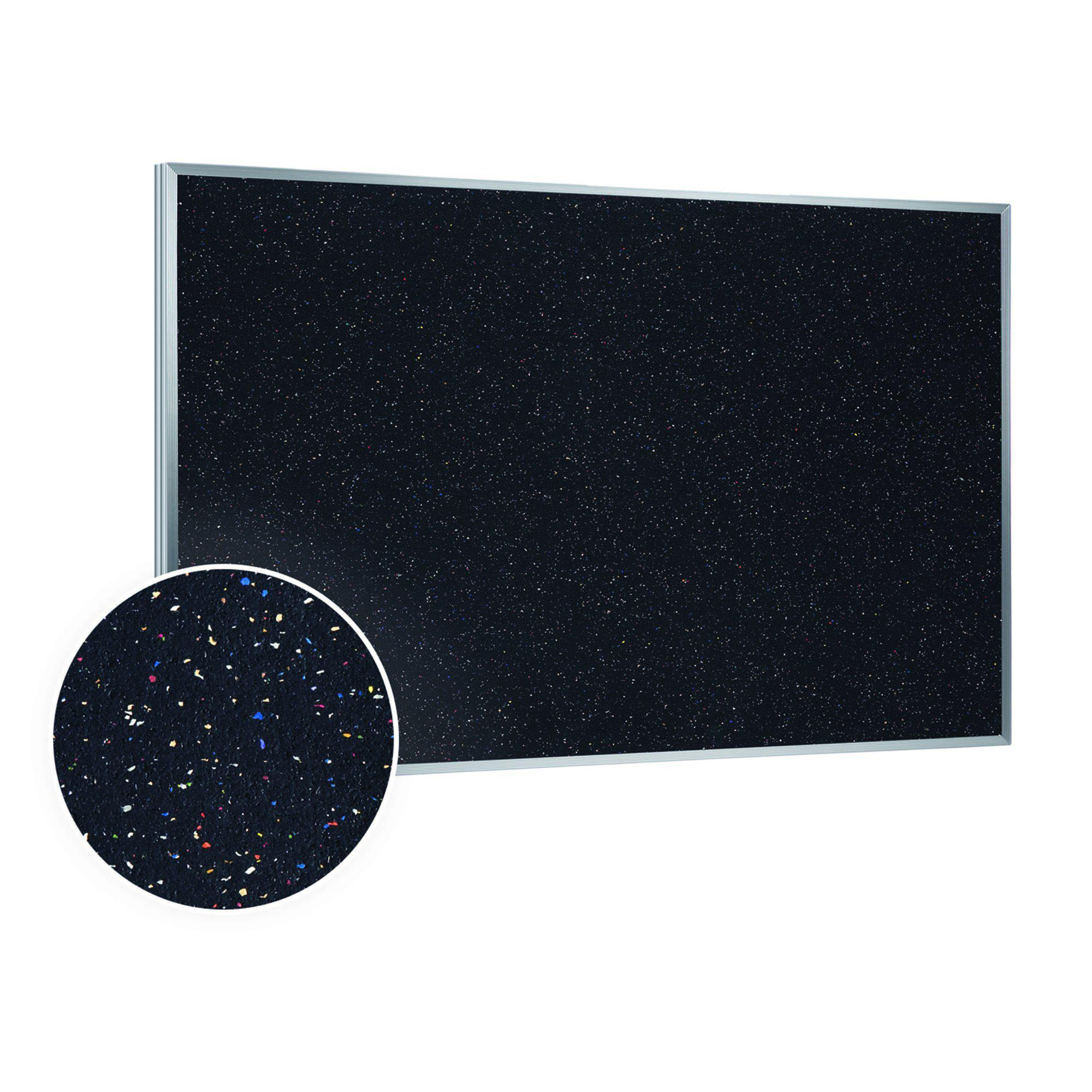 Recycled Rubber Bulletin Board with Aluminum Frame-Boards-2'H x 3'W-