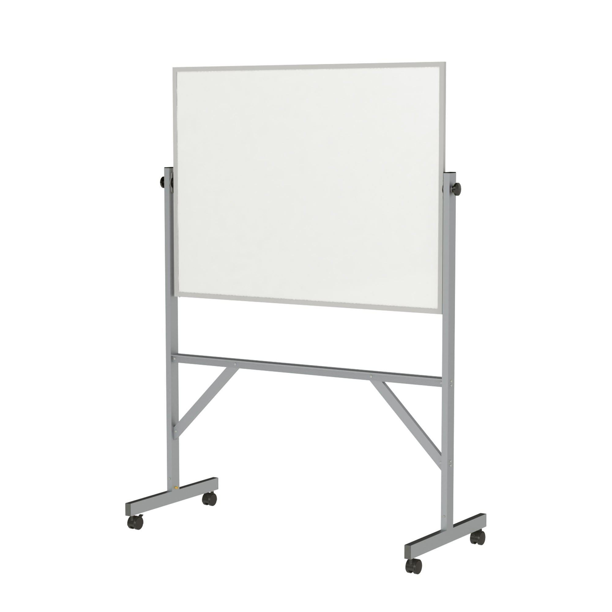 Reversible Magnetic Porcelain Whiteboard with Aluminum Frame-Boards-3'H x 4'W-