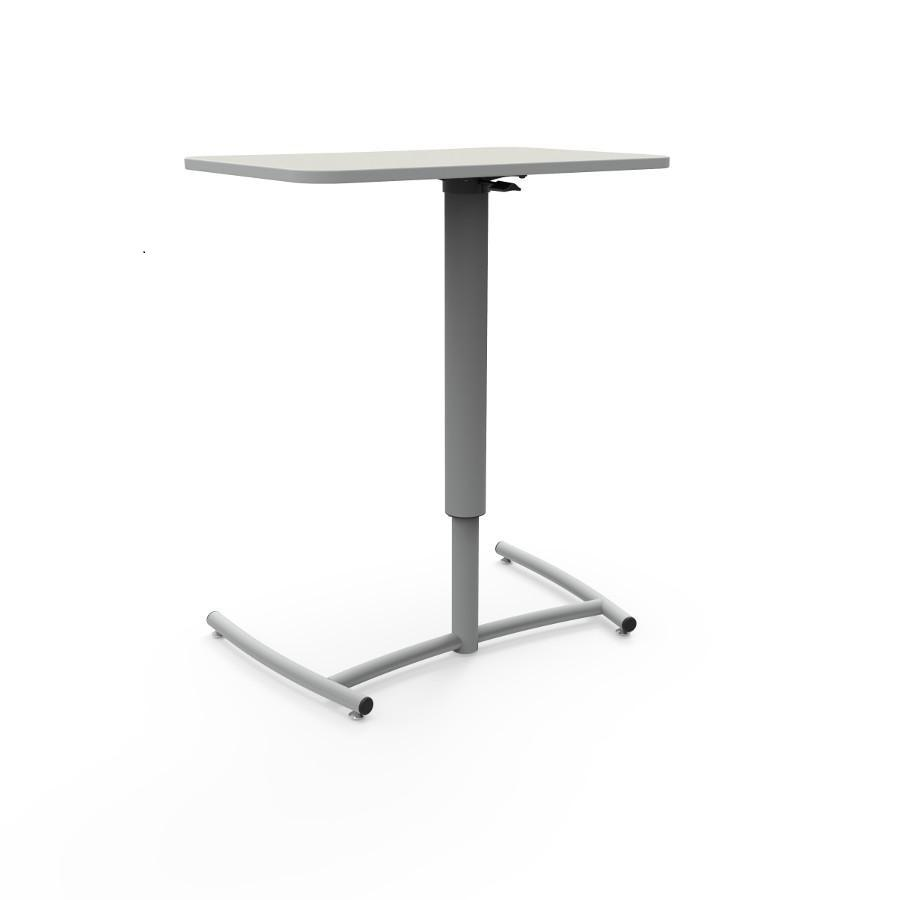 Ruckus Pneumatic Adjustable Desk With Glide Base-Desks-
