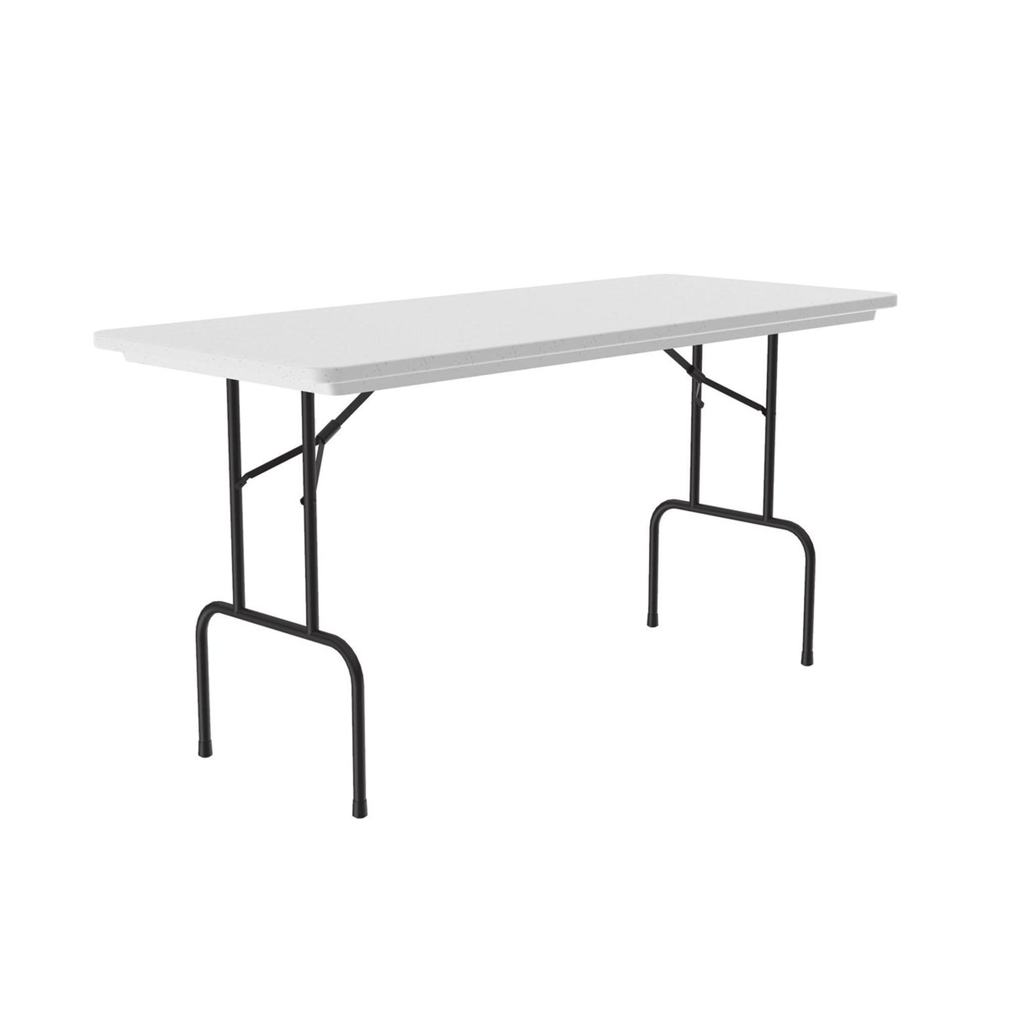 "Sanitation Station Antimicrobial Plastic Folding Table, 36"" Counter/Standing Height"