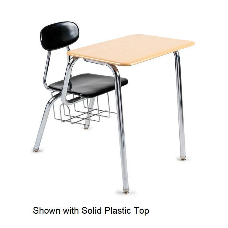 680 Series Extra-Large Combo Desk, Solid Plastic Top