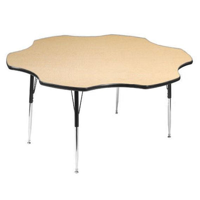 8400 Series Adjustable Height Flower Activity Table with Low-Pressure Laminate Top 60""