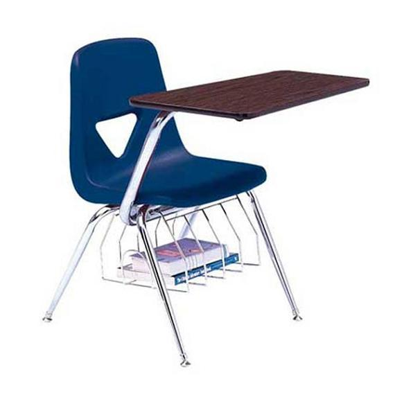 "520 Series Chair Desk with Bookrack, Solid Plastic Top, 17-1/2"" Seat Height"
