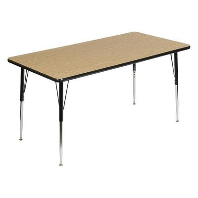 "8400 Series Adjustable Height Rectangular Activity Table with Low-Pressure Laminate Top 30"" x 72"""