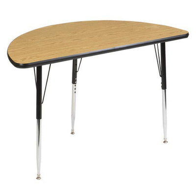 8400 Series Adjustable Half Round Activity Table with Low-Pressure Laminate Top 48""