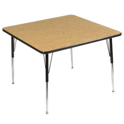 9400 Series Adjustable Height Square Activity Table with High-Pressure Laminate Top, 48""