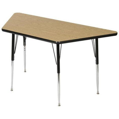 "8400 Series Adjustable Height Trapezoid Activity Table with Low-Pressure Laminate Top 30"" x 60"""