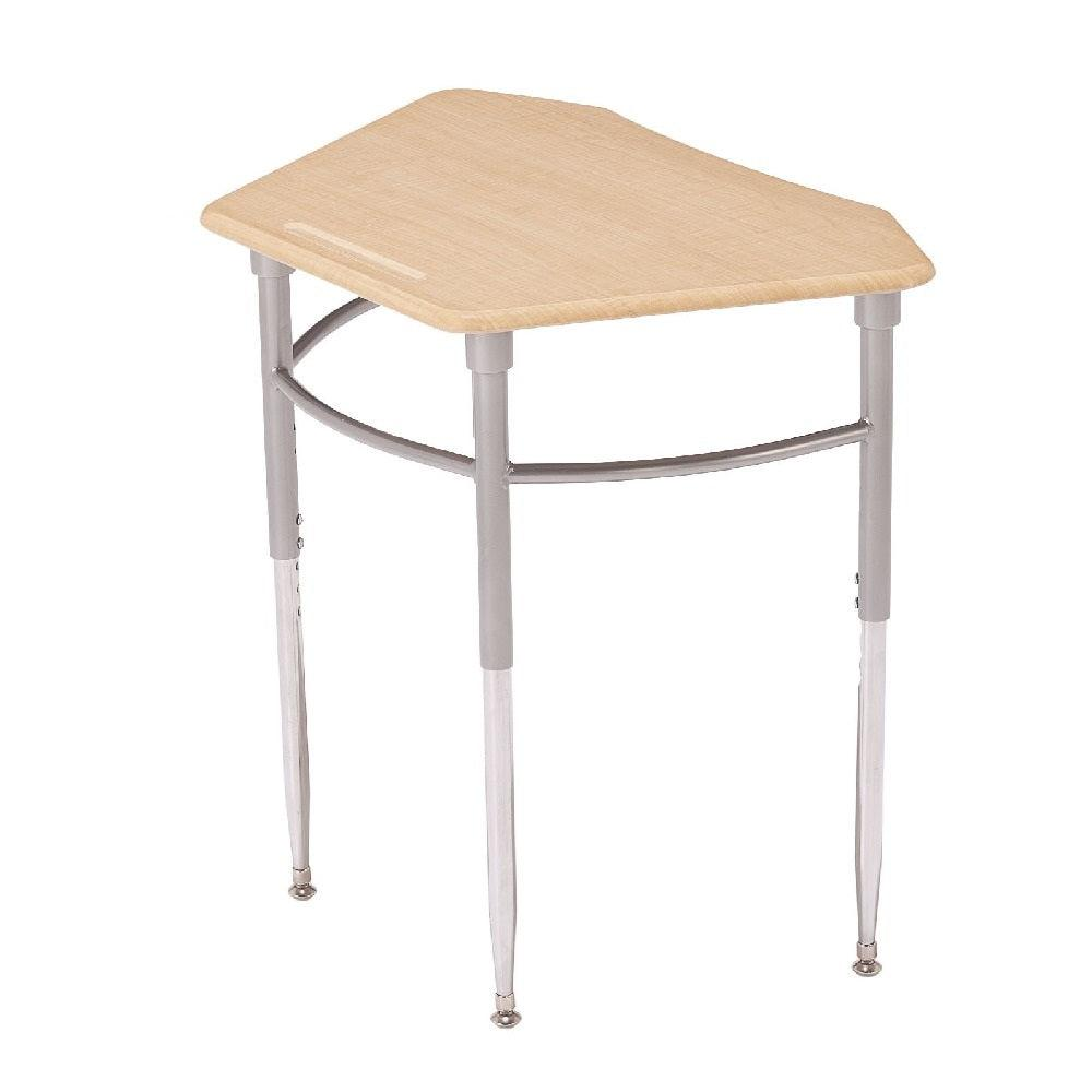 Kaleidoscope Collaborative Learning Adjustable Height Trapezoid 8 Desk with Solid Plastic Top