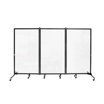 "Screenflex Clear Room Divider-Partitions & Display Panels-3 (10' 0"" L)-"