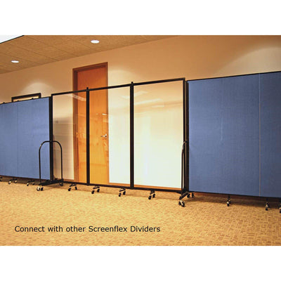 Screenflex Clear Room Divider-Partitions & Display Panels-