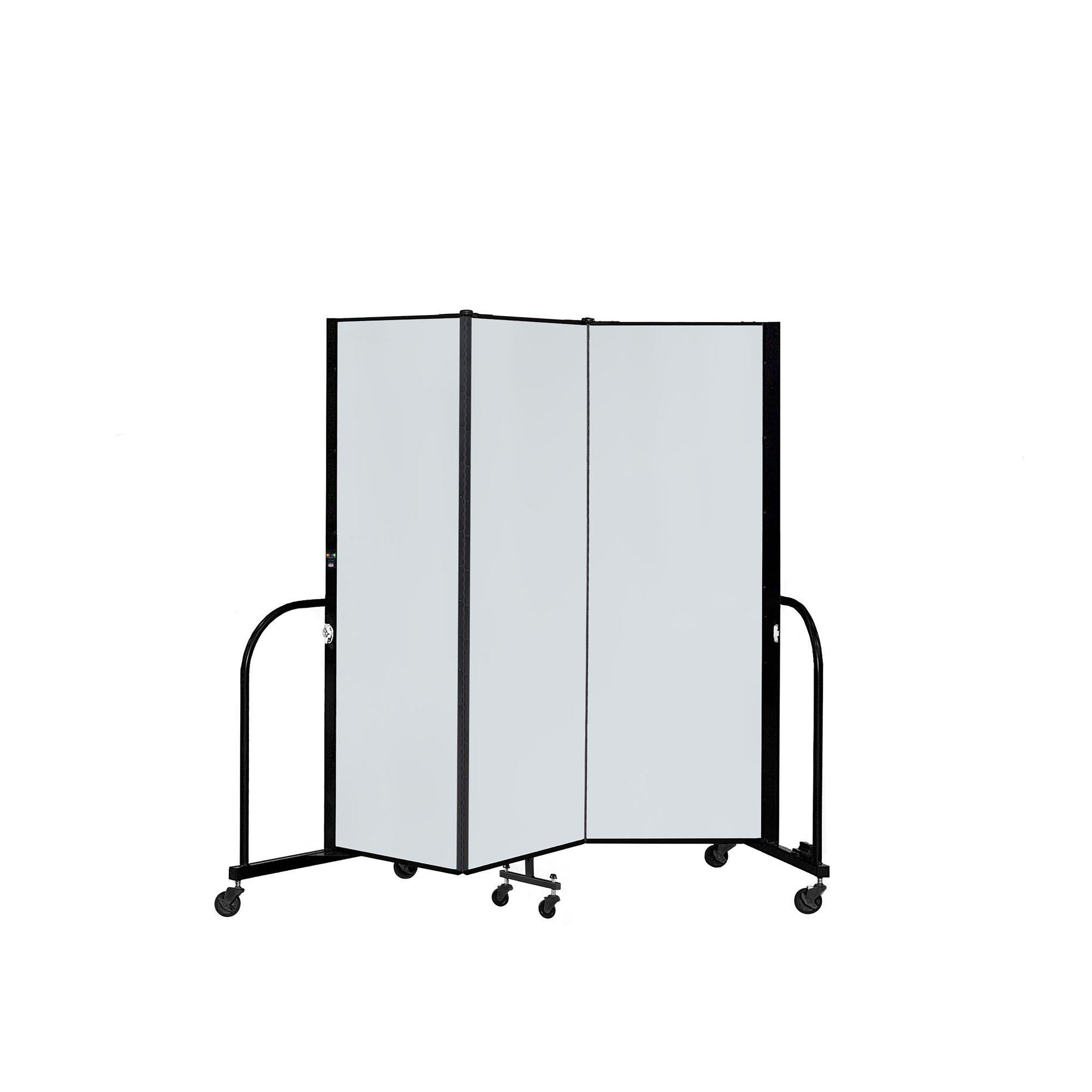 "Screenflex Dry Erase/Tackable Dividers, 6 Ft. High-Partitions & Display Panels-3 Panels (5' 9"" L)-"