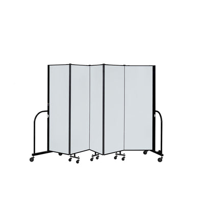 "Screenflex Dry Erase/Tackable Dividers, 6 Ft. High-Partitions & Display Panels-5 Panels (9' 5"" L)-"