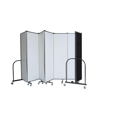 "Screenflex Dry Erase/Tackable Dividers, 6 Ft. High-Partitions & Display Panels-7 Panels (13' 1"" L)-"