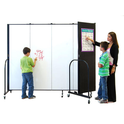 Screenflex Dry Erase/Tackable Dividers, 6 Ft. High-Partitions & Display Panels-