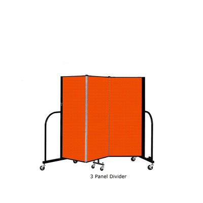 Screenflex Free Standing Room Divider, 4 Ft. High-Partitions & Display Panels-