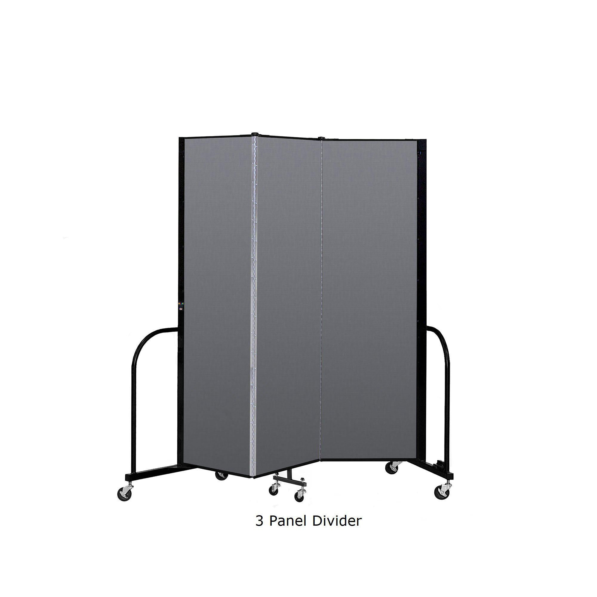 "Screenflex Free Standing Room Divider, 6' 8"" High-Partitions & Display Panels-"