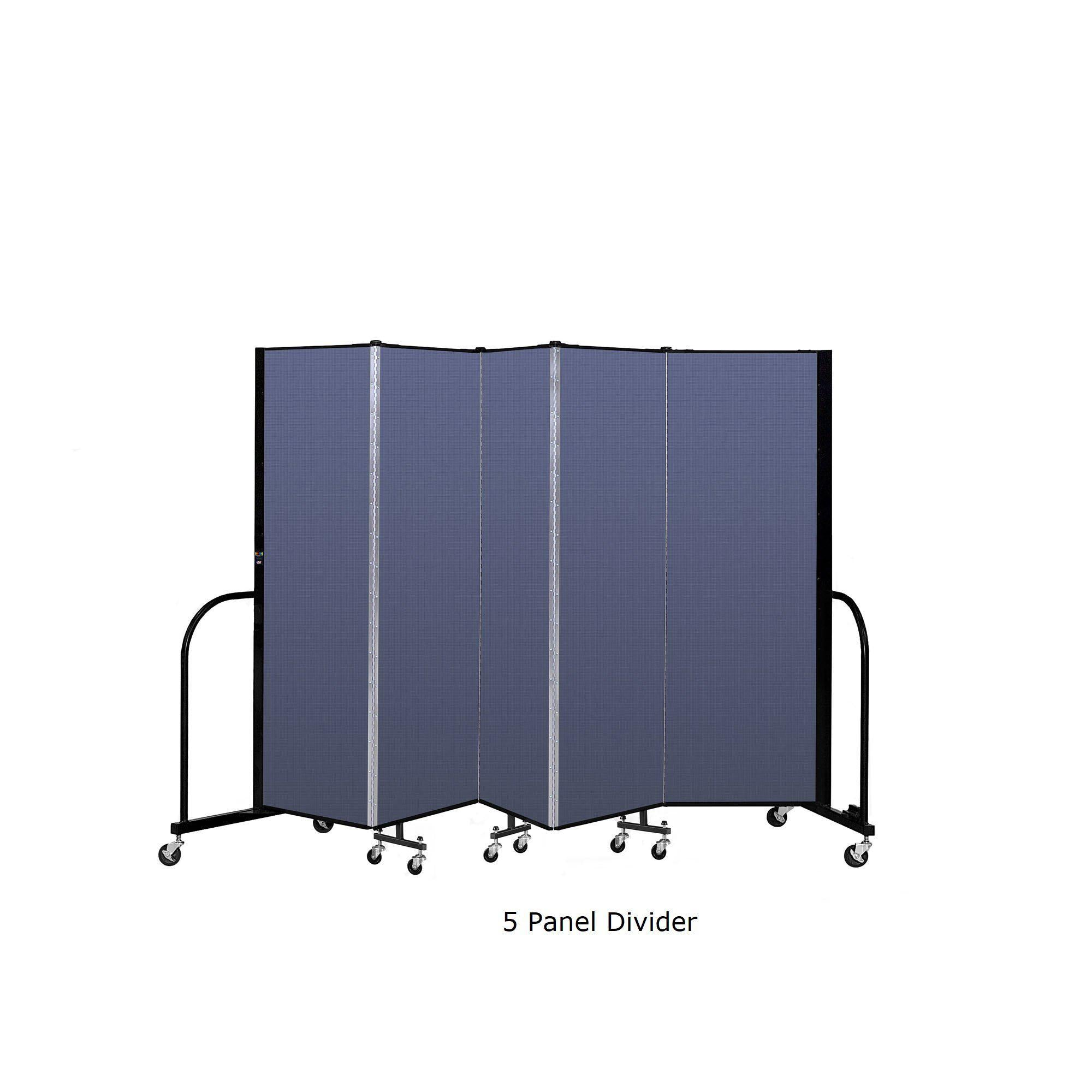 Screenflex Free Standing Room Divider, 6 Ft. High-Partitions & Display Panels-