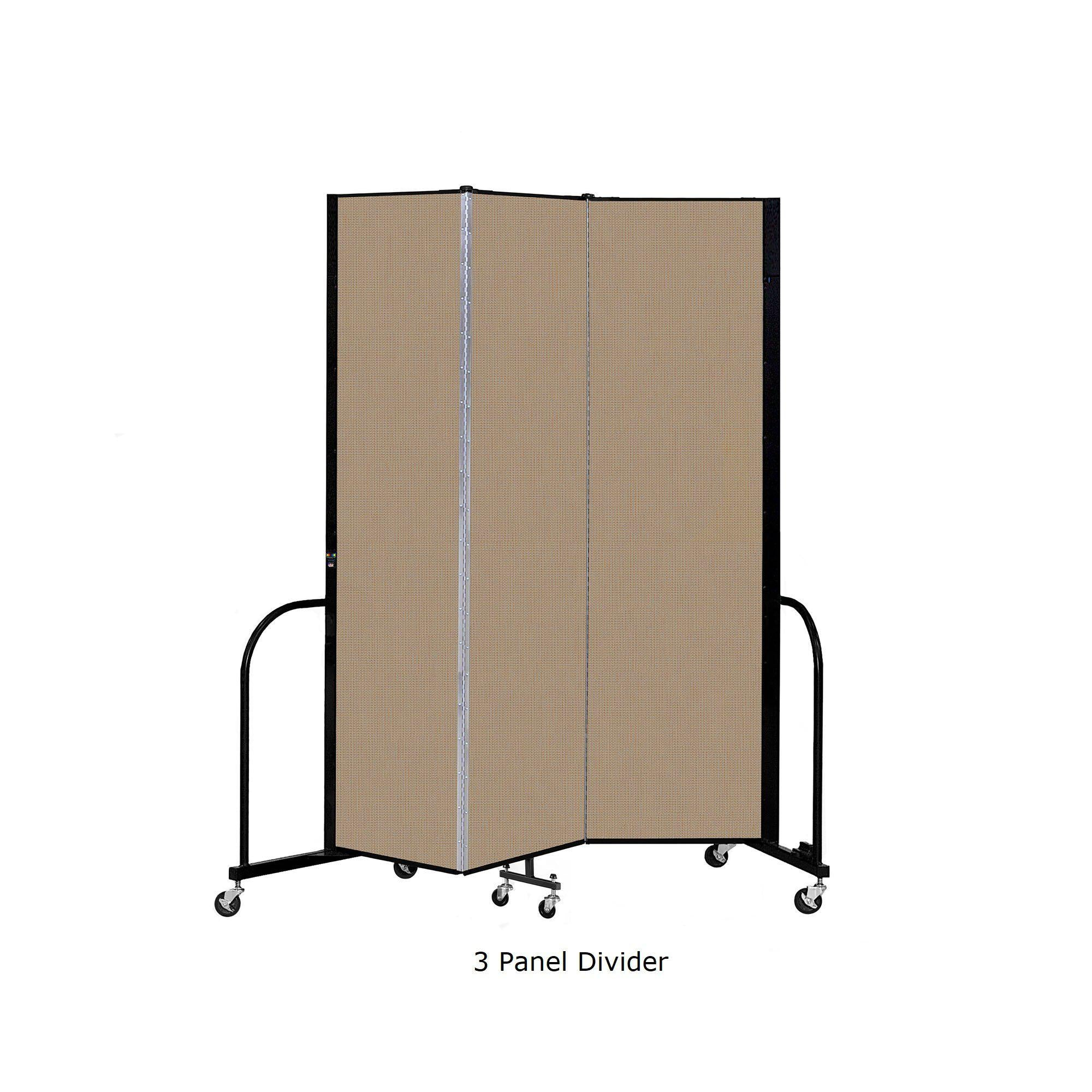 "Screenflex Free Standing Room Divider, 7' 4"" High-Partitions & Display Panels-"