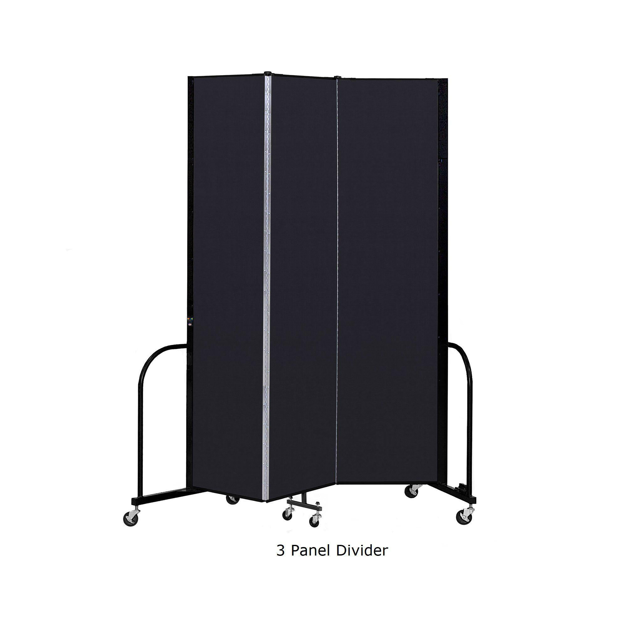 Screenflex Free Standing Room Divider, 8 Ft. High-Partitions & Display Panels-
