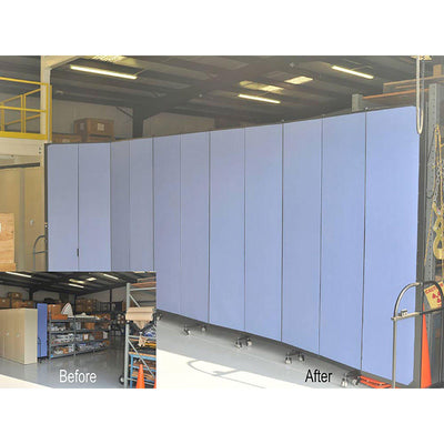 "Screenflex Heavy Duty Room Divider, 7' 4"" High-Partitions & Display Panels-"