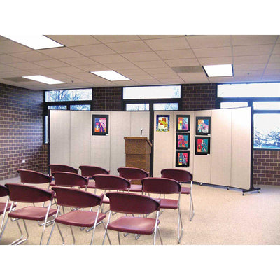 "Screenflex Light Duty Room Divider, 6' 5"" High-Partitions & Display Panels-"