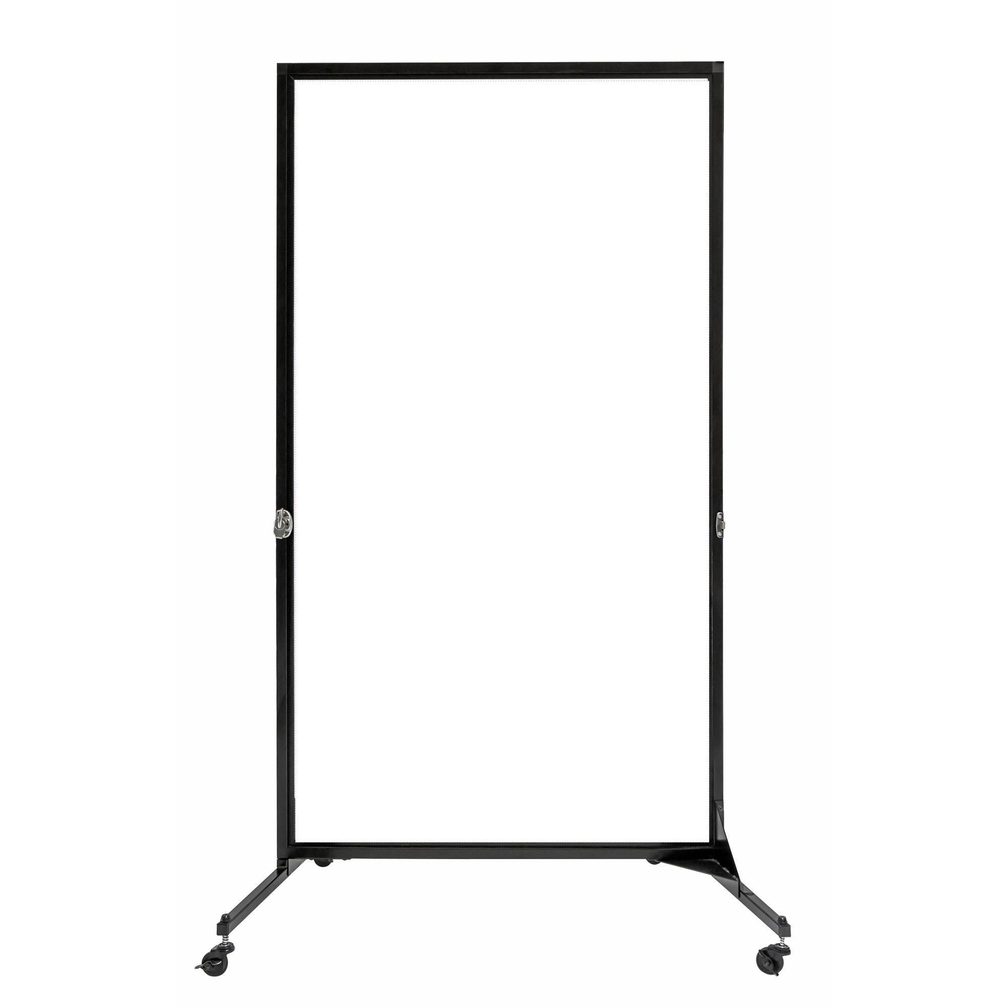 "Screenflex White Board Room Divider, 6' 2"" High"
