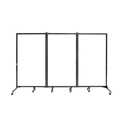"Screenflex White Board Room Divider, 6' 2"" High-Partitions & Display Panels-3 Panels (10' 0"" L)-"