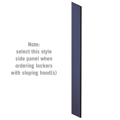 "Side Panel for 6' High x 15"" Deep Designer Wood Lockers with Sloping Hoods-Lockers-Blue-"