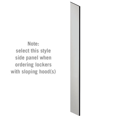 "Side Panel for 6' High x 15"" Deep Designer Wood Lockers with Sloping Hoods-Lockers-Gray-"