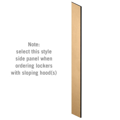 "Side Panel for 6' High x 15"" Deep Designer Wood Lockers with Sloping Hoods-Lockers-Maple-"