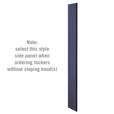 "Side Panel for 6' High x 15"" Deep Designer Wood Lockers without Sloping Hoods-Lockers-Blue-"