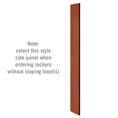 "Side Panel for 6' High x 15"" Deep Designer Wood Lockers without Sloping Hoods-Lockers-Cherry-"