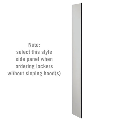 "Side Panel for 6' High x 15"" Deep Designer Wood Lockers without Sloping Hoods-Lockers-Gray-"
