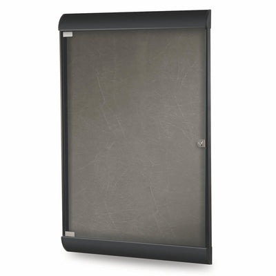 Silhouette 1 Door Enclosed Bulletin Board, 4'H x 2'W-Boards-