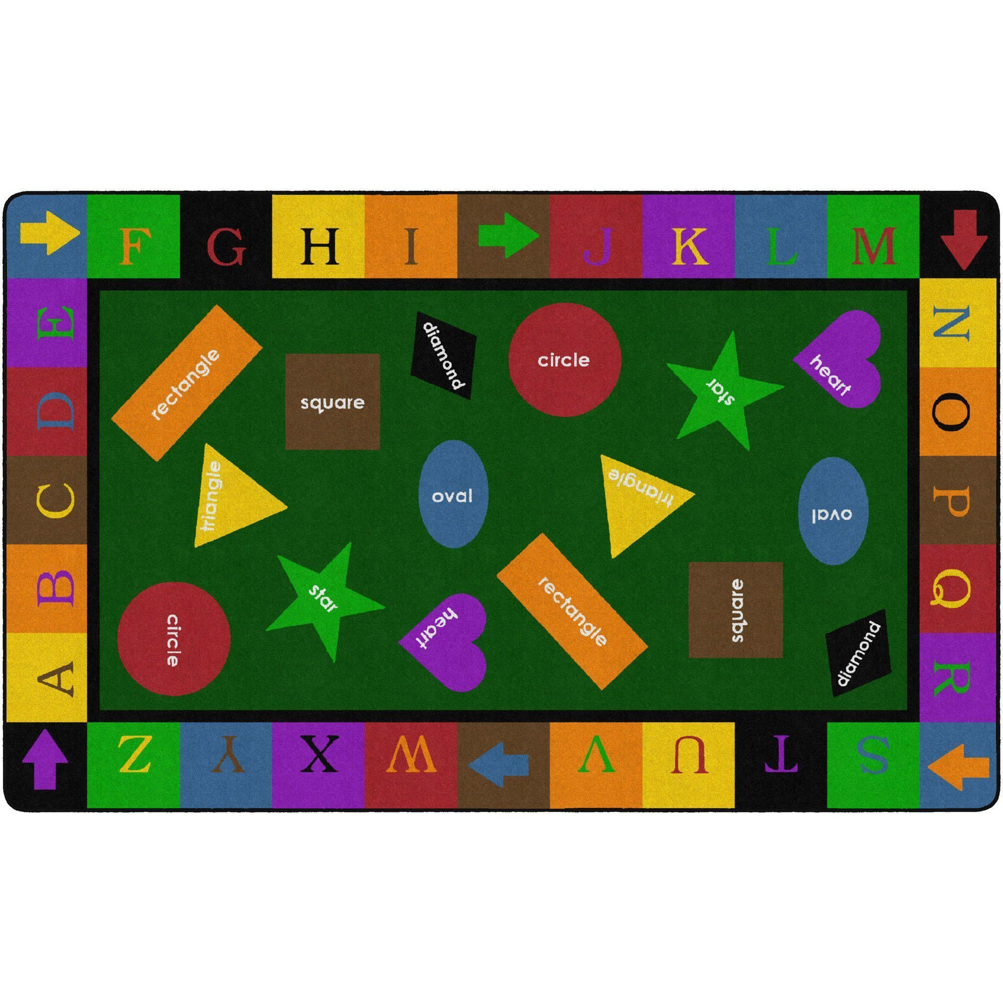Simple Shapes Rugs-Classroom Rugs & Carpets-