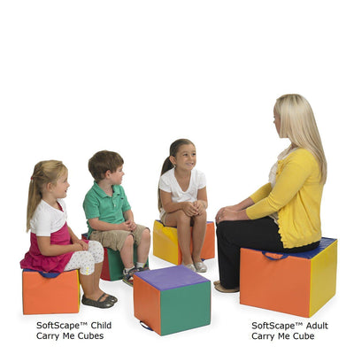 SoftScape™ Adult Carry Me Cube, Assorted-Soft Seating-