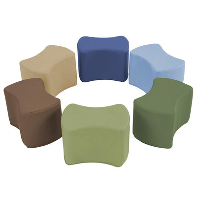 SoftScape™ Butterfly Seating, 6-Piece Set-Soft Seating-Earthtone-
