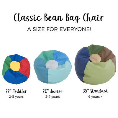 SoftScape™ Classic 26-Inch Junior Bean Bag-Soft Seating-
