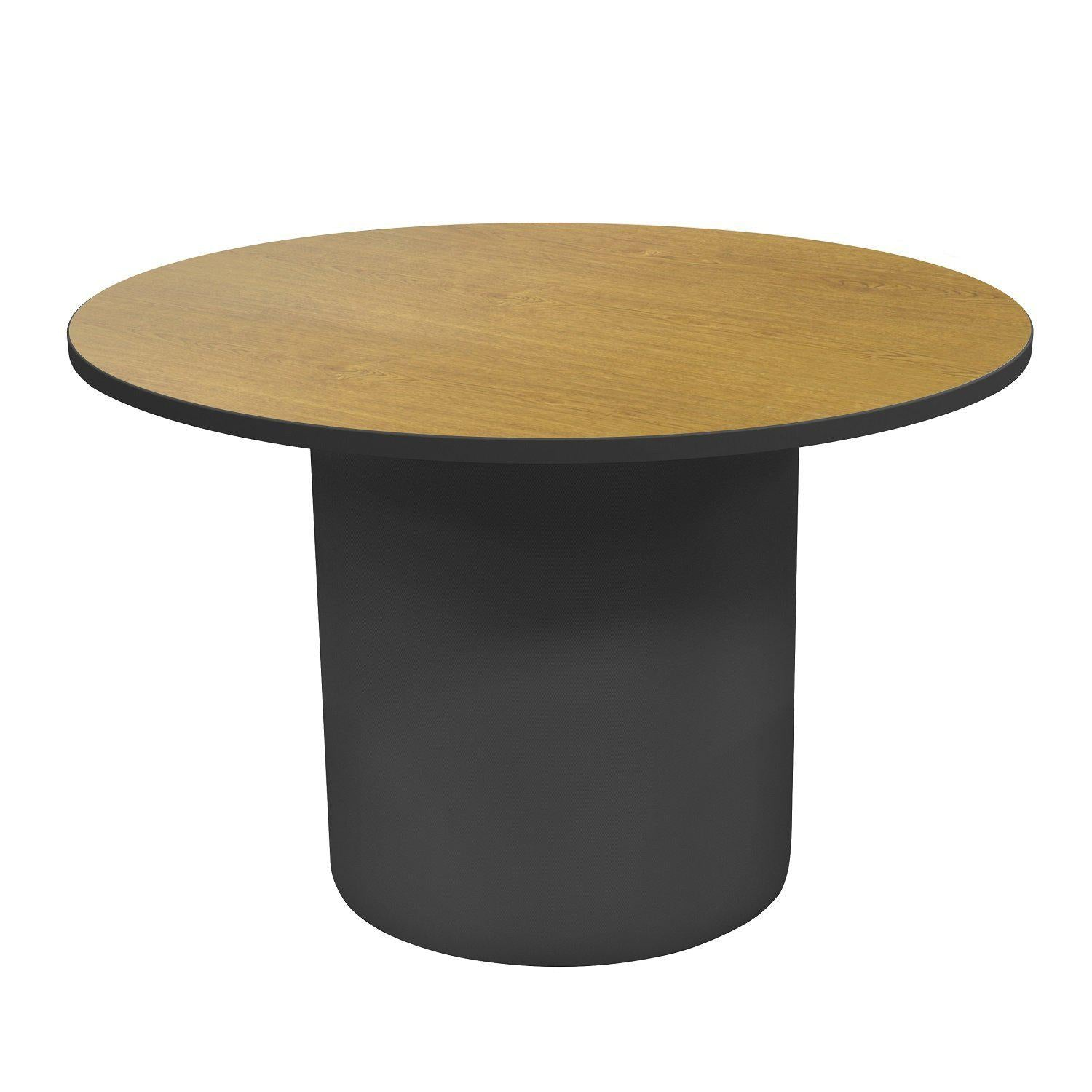 "Sonik™ Soft Seating 48"" Round Table-Soft Seating-29""-Solar Oak/Black-Frost"