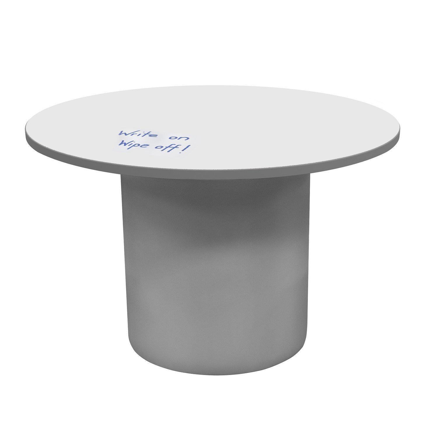 "Sonik™ Soft Seating 48"" Round Table with Markerboard Top and Power/Data Supply-Soft Seating-29""-Markerboard/Gray-Frost"