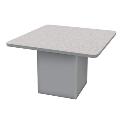 "Sonik™ Soft Seating 48"" Square Table-Soft Seating-26""-Gray Nebula/Gray-Frost"