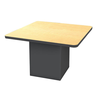 "Sonik™ Soft Seating 48"" Square Table-Soft Seating-29""-Fusion Maple/Black-Ebony"